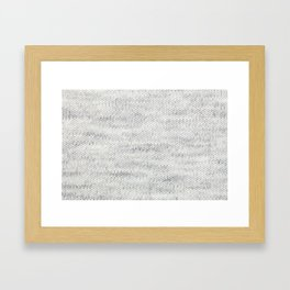 Gray Wool Framed Art Print