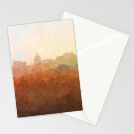 Madison, Wisconson Skyline - In the Clouds Stationery Cards