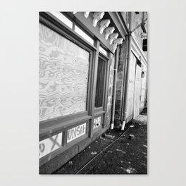 Unsafe Building Canvas Print