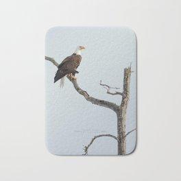 Bald Eagle in the tree Bath Mat