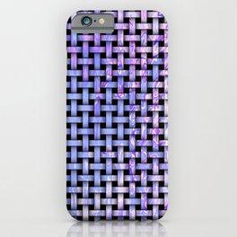 Blue Wooden Weave Pattern iPhone Case