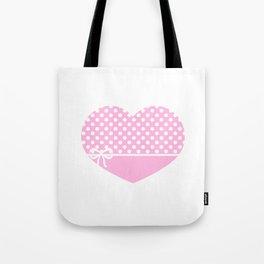 Heart & Ribbon-pink Tote Bag