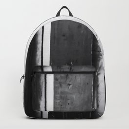 cactus with wood wall background in black and white Backpack