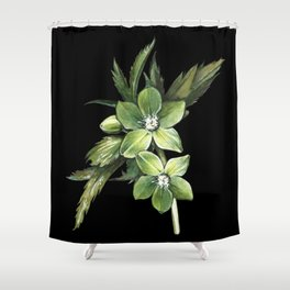 Hellebore Spring Shower Curtain