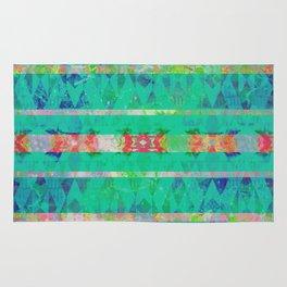 Turquoise Southwest Boho Grunge Rug