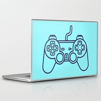 playstation Laptop & iPad Skins featuring Playstation 1 Controller - Retro Style! by Rikard Röhr