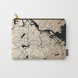 Amsterdam Gold on Black Street Map Carry-All Pouch