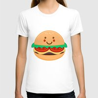 burger T-shirts featuring Burger by AnishaCreations