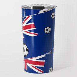 Australian Flag Football Travel Mug