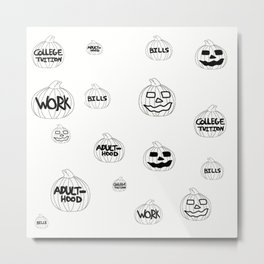 Scariest Pumpkins Around Metal Print