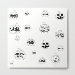 Scariest Pumpkins Around Metal Print