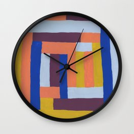 Painted color blocks Wall Clock