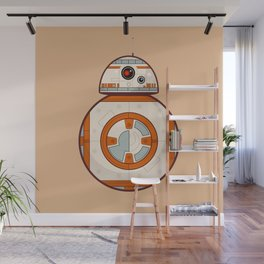 BB8 Droid Cream Background Wall Mural