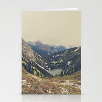 buildings Stationery Cards featuring Mountain Flowers by Kurt Rahn