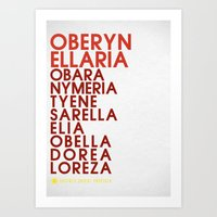 martell Art Prints featuring Oberyn Martell Typography series II by P3RF3KT