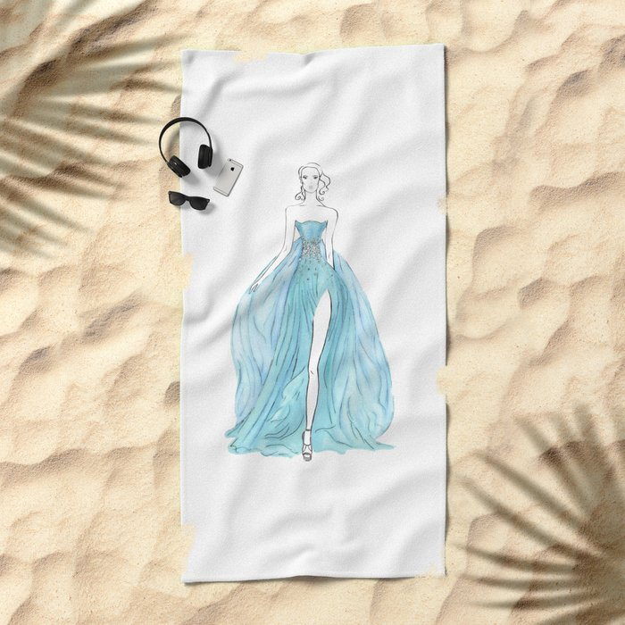Floating Dress Beach Towel