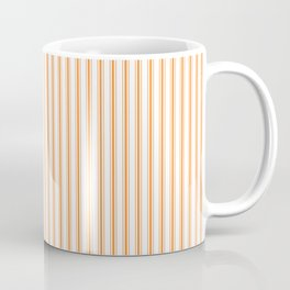 Bright Orange Russet Mattress Ticking Narrow Striped Pattern - Fall Fashion 2018 Coffee Mug