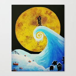 Simply Meant To Be - Nightmare Before Christmas Fan Art Canvas Print