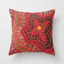 Doodle 16 Red Throw Pillow