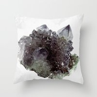 mineral Throw Pillows featuring Mineral by .eg.