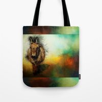 donkey Tote Bags featuring Donkey by Ginkelmier