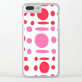 Red romantic pattern Clear iPhone Case