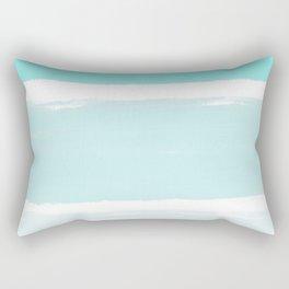 Blue Stripes Minimalist Watercolor Rectangular Pillow