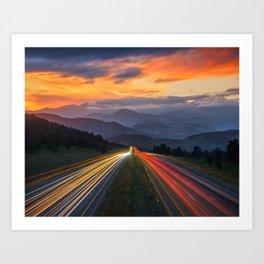 I-70 Traffic Art Print