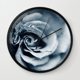 Rose - powder blue Wall Clock