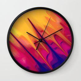 Fingerpaint Delight Wall Clock