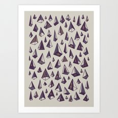 Triangles Are My Favorite Shape Art Print