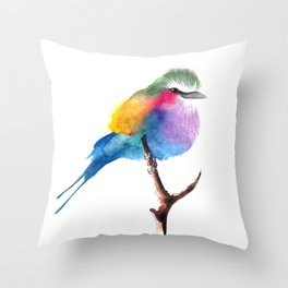 The Lilac-breasted Roller Throw Pillow