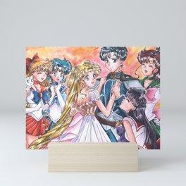 Sailor Senshi Together Mini Art Print