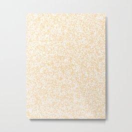 Tiny Spots - White and Sunset Orange Metal Print