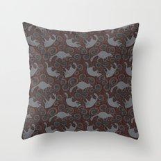 Raccoon Roundabout  Throw Pillow
