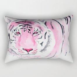 Fuchsia Watercolour Tiger Rectangular Pillow