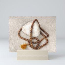 Spirituality. Tibetan mala beads. Mini Art Print