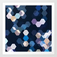 honeycomb Art Prints featuring HONEYCOMB by ED design for fun