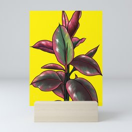 Rubber plant Mini Art Print