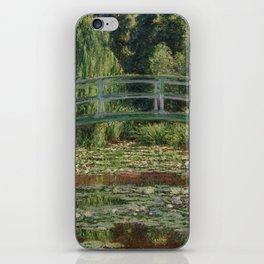 Claude Monet - Japanese Footbridge iPhone Skin