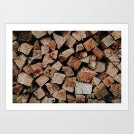 Chopped Firewood Stack Art Print