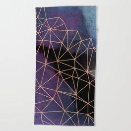 Ultraviolet Storm Beach Towel