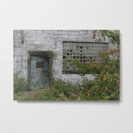 Old door to the unknown Metal Print