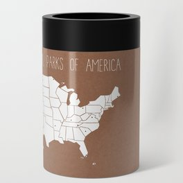 The Hand-Painted National Parks of America Can Cooler