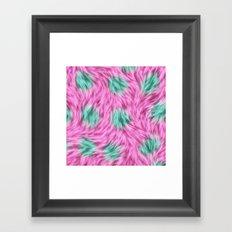 Sunny bunnies (pink) Framed Art Print