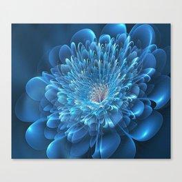 3D Blue Flower Canvas Print
