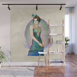 Peacock Gown Wall Mural