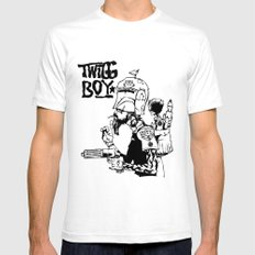 Twig Boy White SMALL Mens Fitted Tee