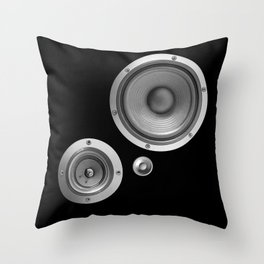 Subwoofer Speaker on black Throw Pillow