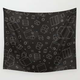 Third Dimensional Pattern: Dark Wall Tapestry